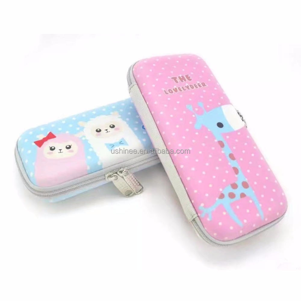 Pen Case Pouch with Double Zipper, Stationary Pencil Case Organizer for Pen,Ruler,Scissor,Eraser,Clips,