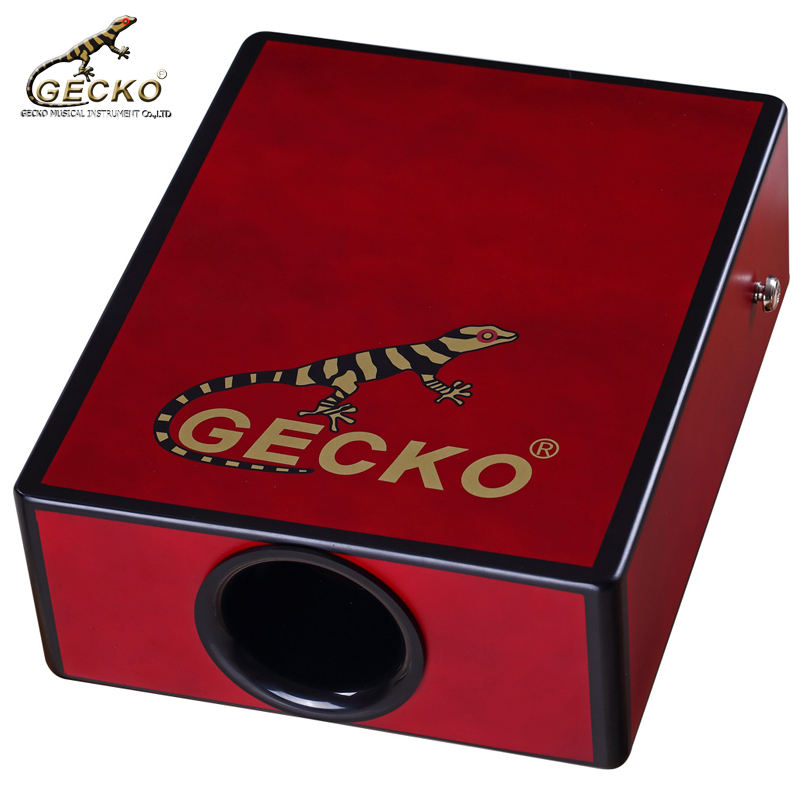 Gecko 2018 hot sale C-68S gecko portable pad cajon flamenco, percussion box drum Wooden drum box Handmade percussion instrument