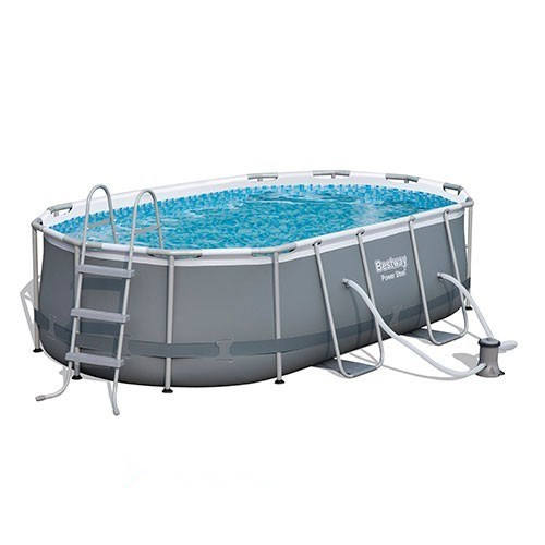 Bestway 56617 above ground plasticsteel frame swimming pool