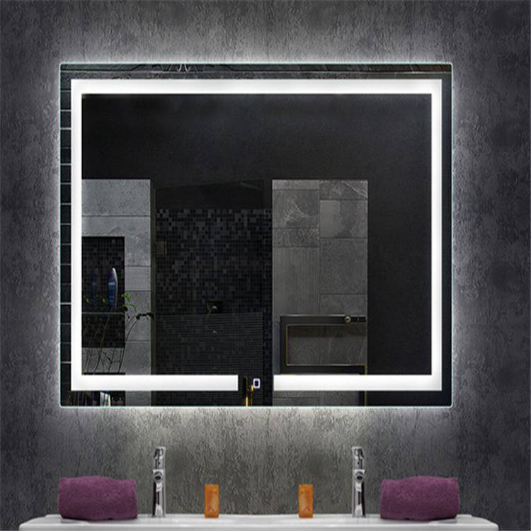 Modern Chinese Wholesale UL ROHS Illuminated Bathroom LED Dot Light Mirror with heated pad
