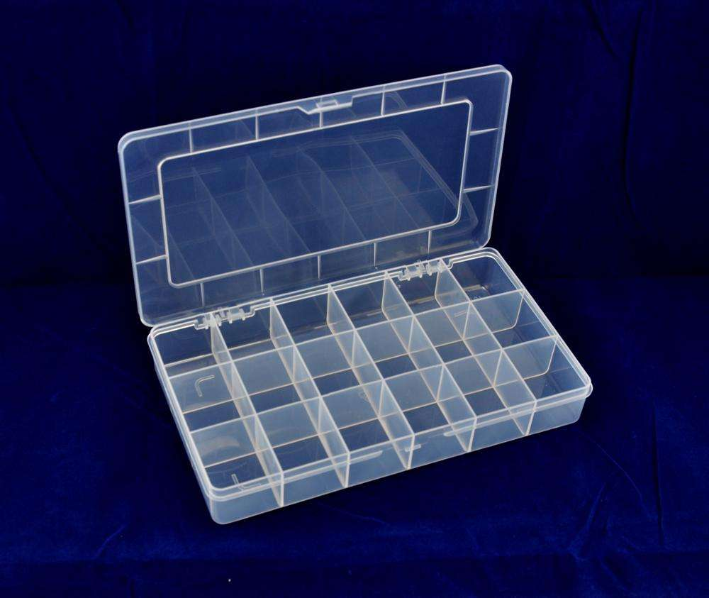 Clear PP Small Plastic Organizer Compartment Storage Box with Adjustable Dividers