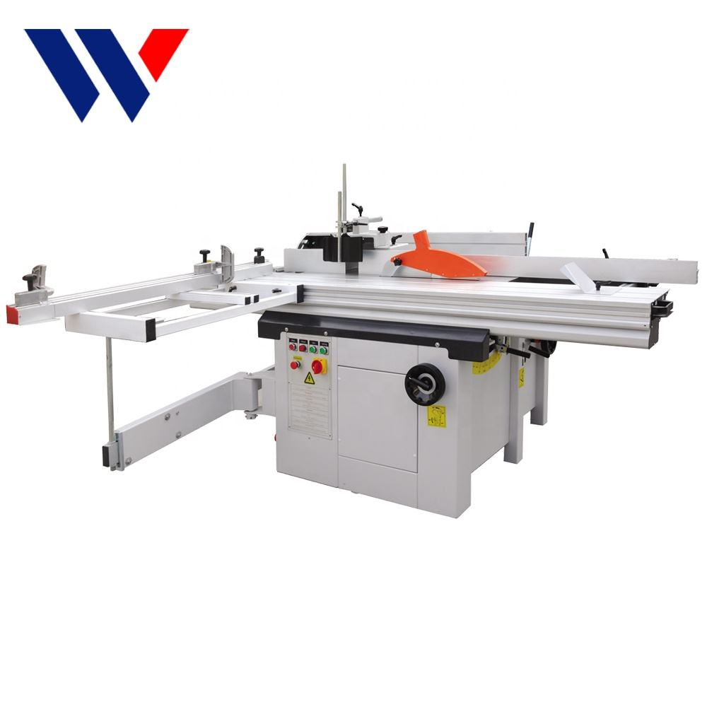 Combinate wood heavy duty multi function panel table saw planer thicknesser
