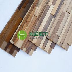 3D Decorative Teak Wood Wall Pane
