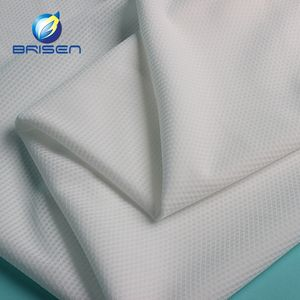 China garment material white 100 polyester tricot knit fabric for sport wear