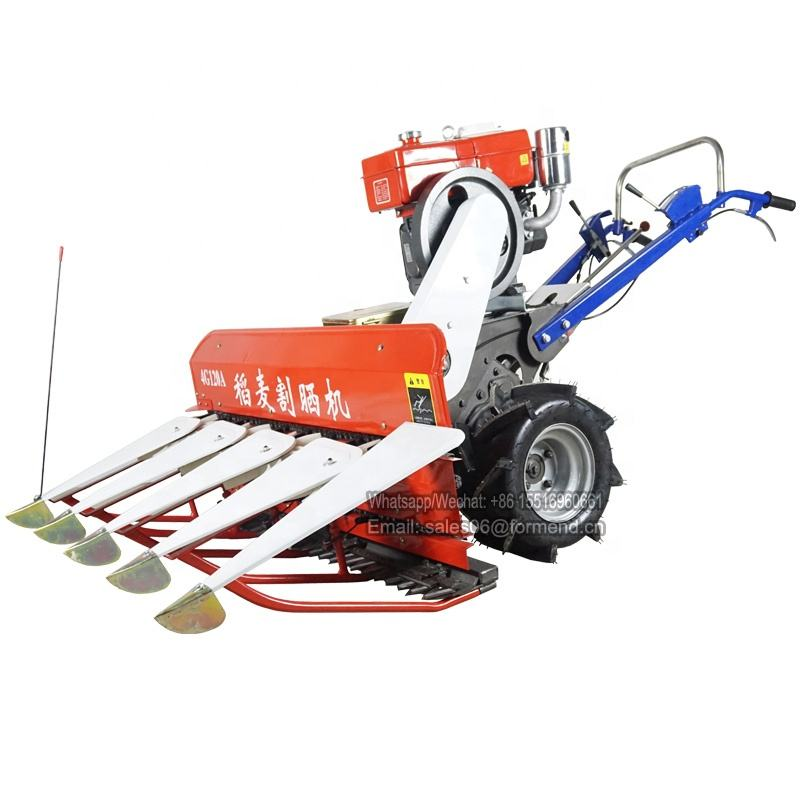 Alfalfa cutting machine small rice wheat harvester for sale