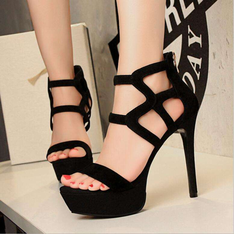 Wholesale Rome style ladies high heel safety shoes lace-up platform pumps shoes women