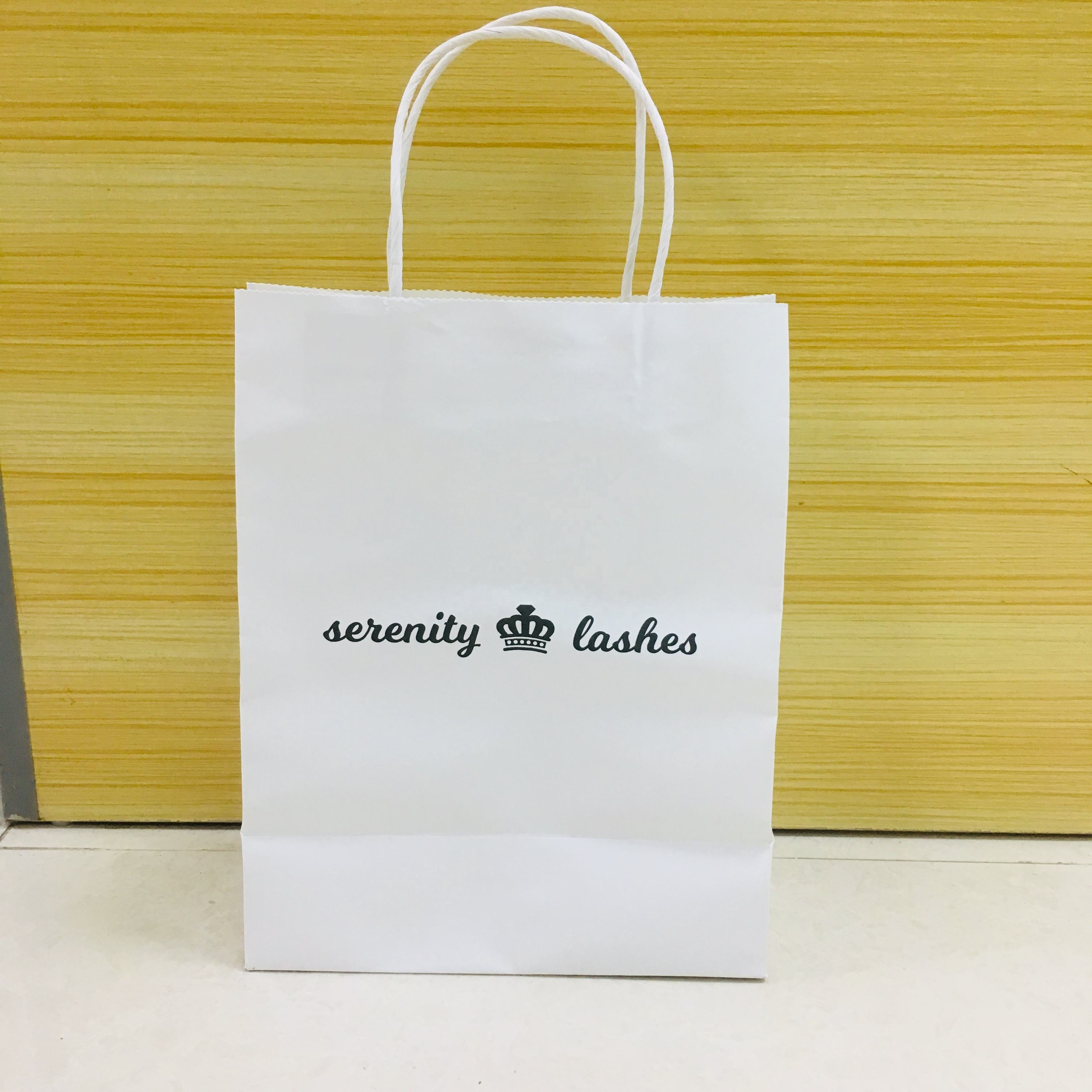 Custom Twisted Handle Grocery Shopping Carrier Brown Craft Kraft Paper Paperbags With with Your Own Logo