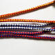 Latest design 6mm bicolor braided cowhide hollow leather cord