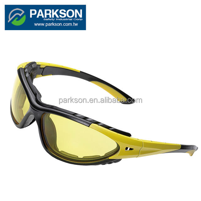 PARKSON SAFETY Taiwan Sport Against Flying Articles Colorful Frame Custom Safety Glasses CE EN166 ANSI Z87.1 SS-6000