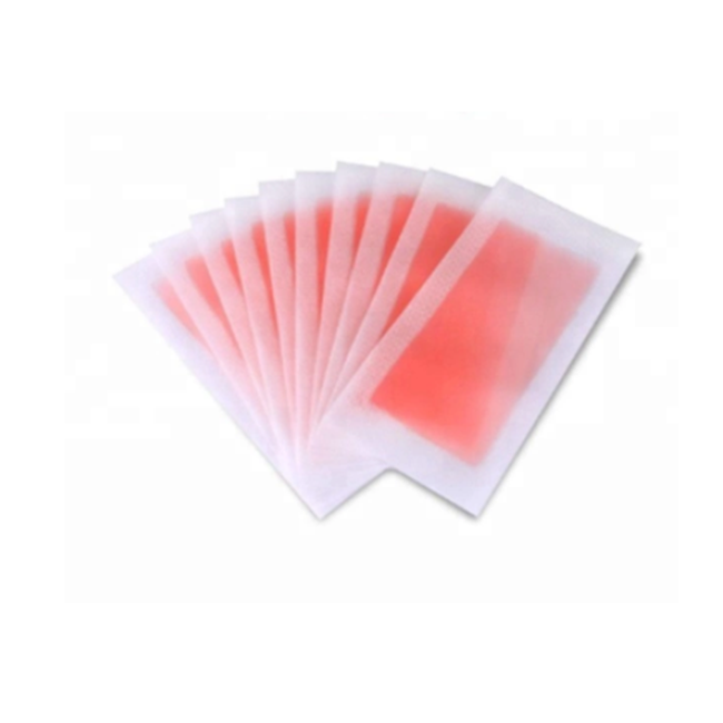 Wholesale cartridge with wax strips printable pink box packing body cold face ready to use waxing strips
