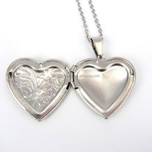 factory price heart shaped photo frame pendant stainless steel photo pendant christmas gift ideas for friends