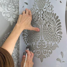 High quality eco-friendly plastic wall painting stencil set mylar die cutting stencil