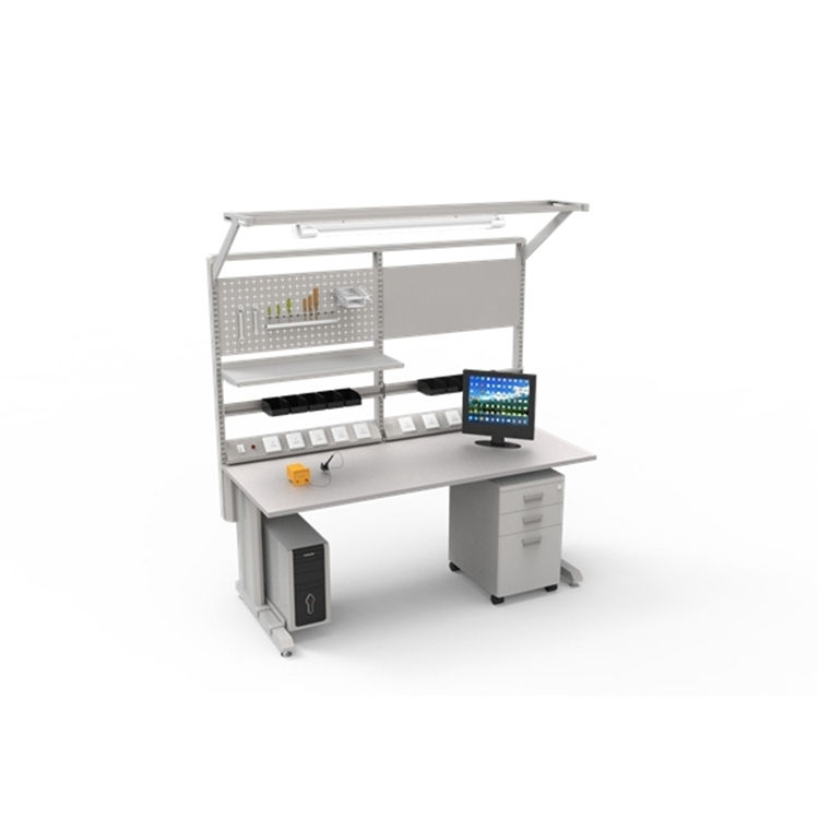 Detall Ergonomic electrical work table with adjustable height
