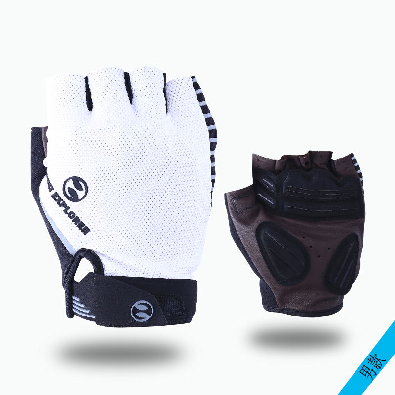 Unisex Comfortable Specialized half finger Real Leather Cycling gloves