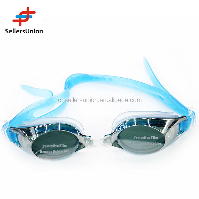 Best quality anti-fog diving goggle swimming glasses with plastic box 10015189
