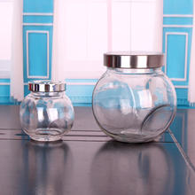 190ml ROUND Air Tight Spice Storage Jars Clear Glass Canister Containers Kitchen