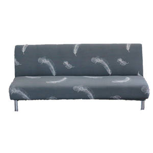 Printed Sofa Bed Cover Futon Slipcover Full Folding Elastic Armless Sofa Protector Cover