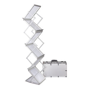 hot sale magazine metal Z type acrylic brochure holder display rack