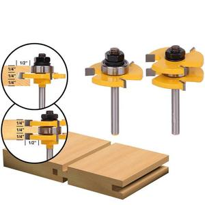 Quiki Wood Milling Cutter Tongue & Groove Router Bit 3/4 Stock 1/4