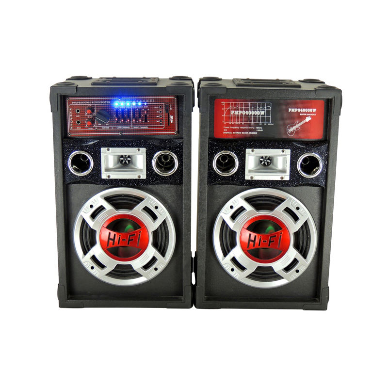 High quality factory stage active speaker 2.0 subwoofer music system portable speaker trolley speaker