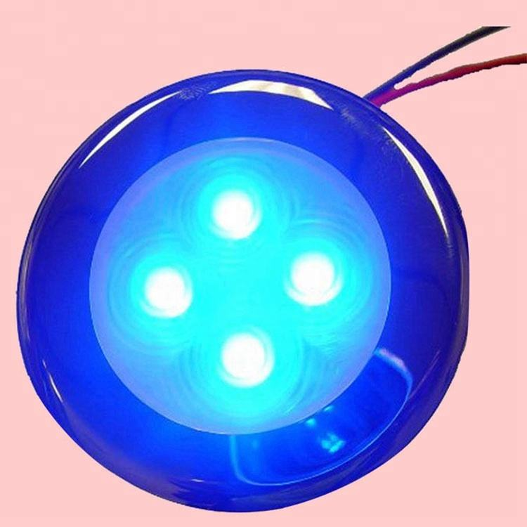 Blue Red White Three Colors 4 LED Flush Mount Courtesy and Accent Light