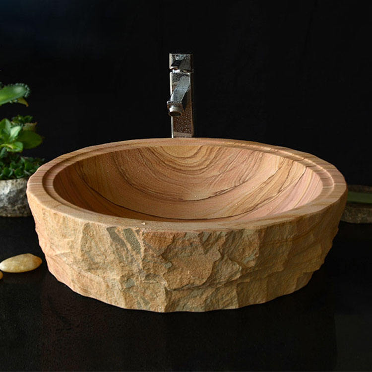 Stone sink bowl oil tank cover