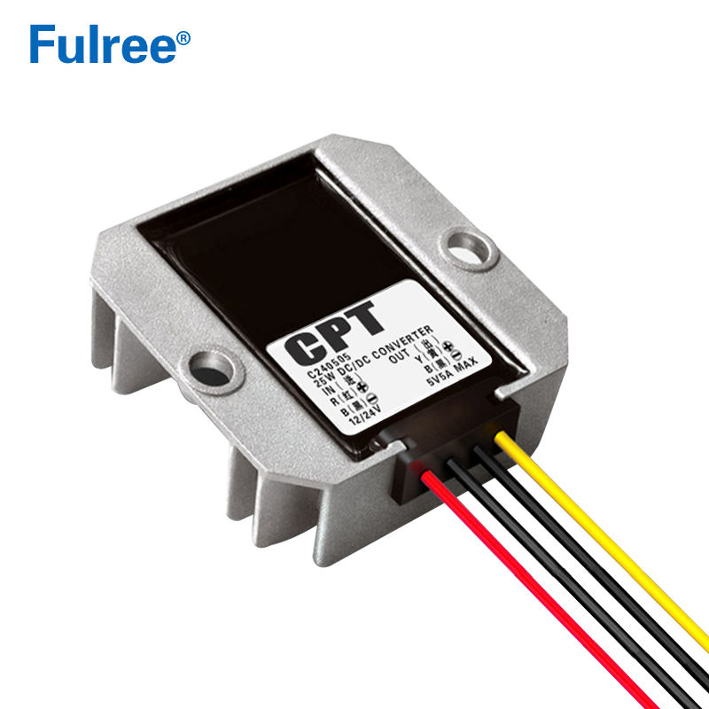 CPT 24V to 5V 5A 25W Buck Converter 12V to 5V Step Down Converter DC-DC Car Power Converter C240505