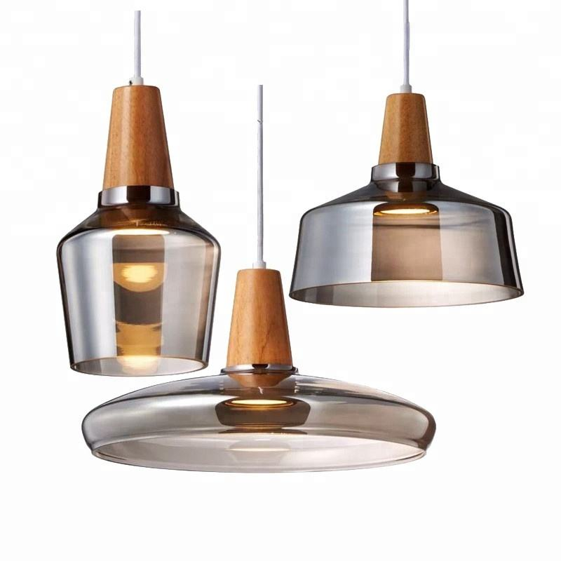 Interior Designer Nordic Style Hanging Lights Glass Shade Modern Pendant Blown Glass Chandelier