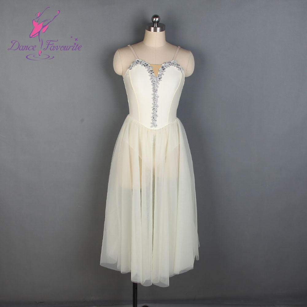 19838 Child and Adult Ballet, Lyrical and Contemporary Dance Costume Ivory Long Ballet Tutu Dancing Dress