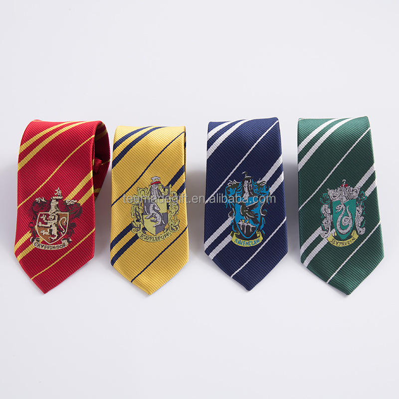 Custom School tie Harry Potter Decoration Necktie With LOGO