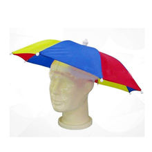 Factory direct sales customized logo printed UV protection umbrella hat