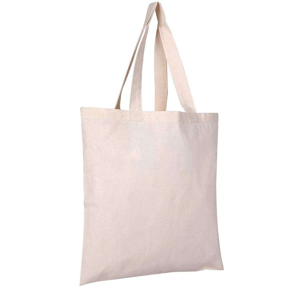 Custom Beach Cotton Canvas Tote Bags Reusable Grocery Shopping Blank Tote Bags in Bulk Blank Tote Handbags