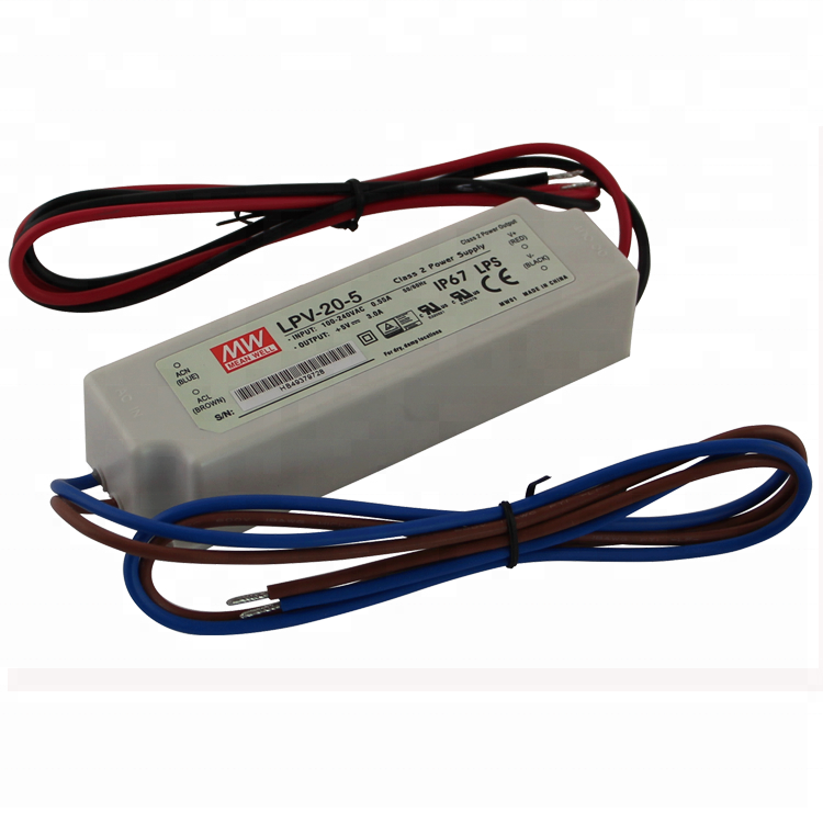 Meanwell Low Cost Switching Power Supply IP67 Pass LPS LPV-20-5 20W 5V LED Driver for LED Lighting Fixture