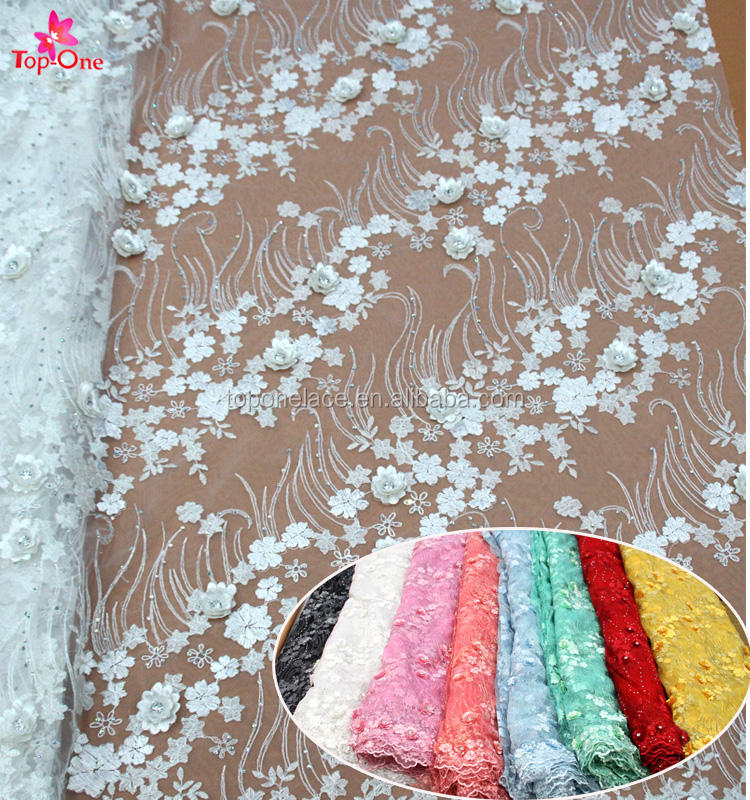 New arrival ready goods party woman dress embroidery lace fabric