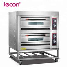 Lecon Widely Use Double Deck Four Tray Industrial Electric Oven