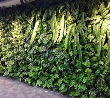 home artificial grass wall with fern leaves artificial plant wall
