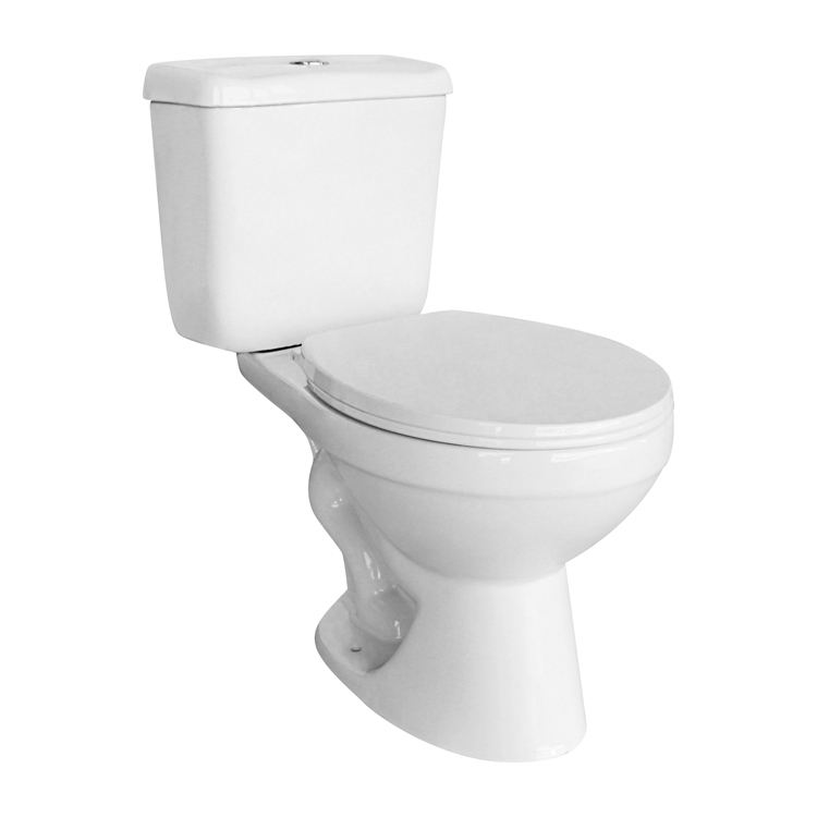 WC White Elongated Washdown Two Piece Toilet