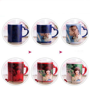 magic color changing ceramic cups exporter for sublimation customized photo ceramic coffee mug importer
