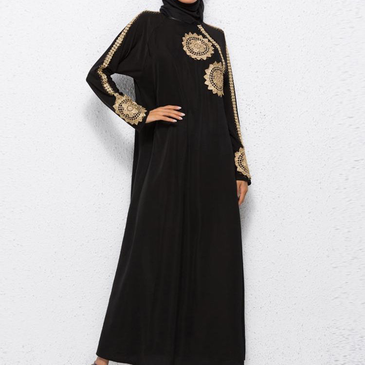 A3437 Indian Pakistani Long Readymade Golden Embroidery Abaya Anarkali Heavy salwar suit Designer Kimono