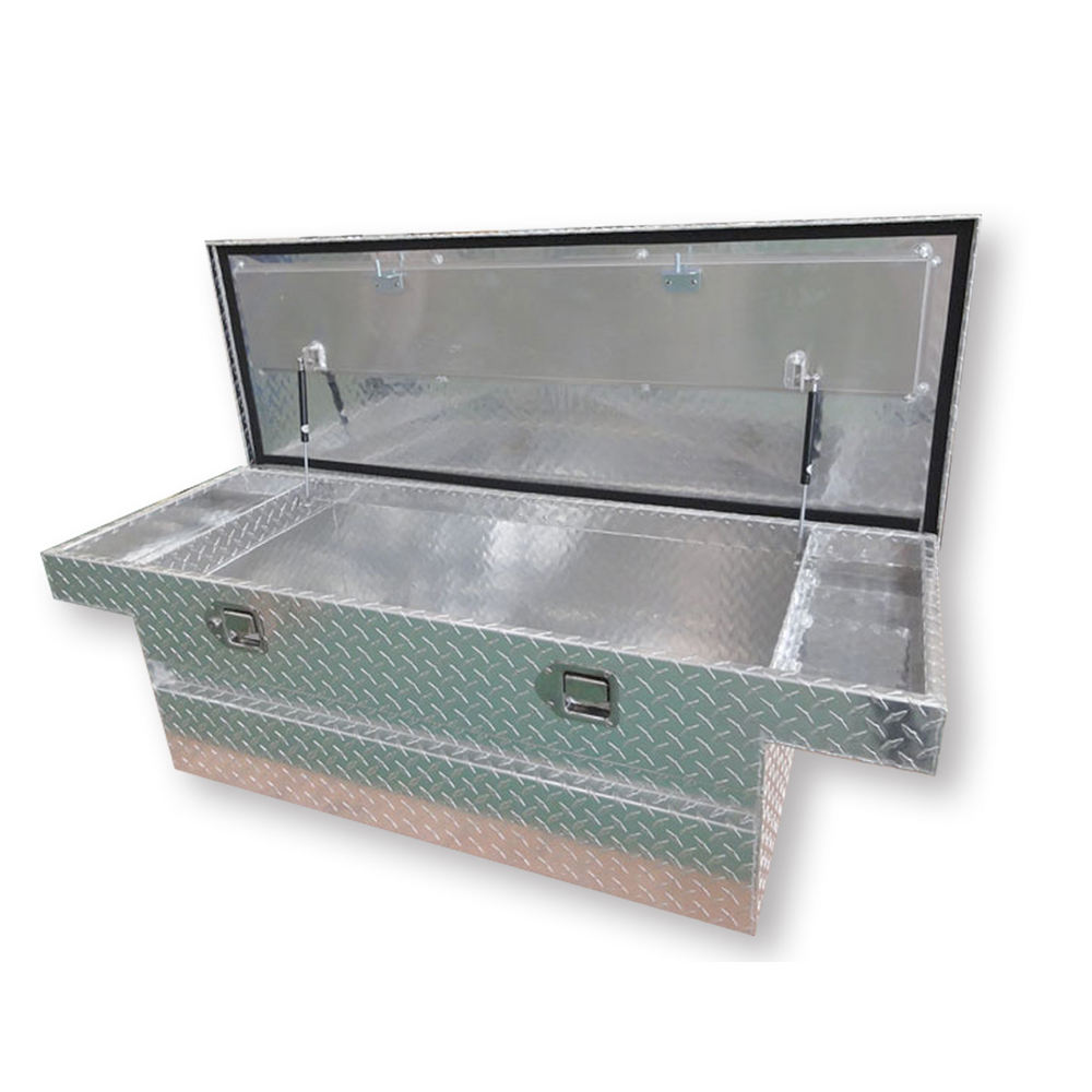 Heavy Duty Portable Aluminum Storage Tool Box For Pick Up Truck Bed With Lock