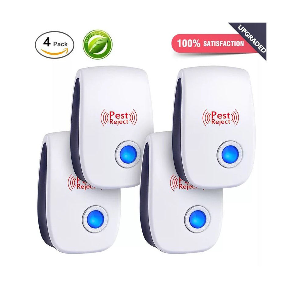 Ultrasonic Mouse Pest Repeller/Mosquito Reject Electronic Pest Dispeller Repel Pest And Rats Four Pack