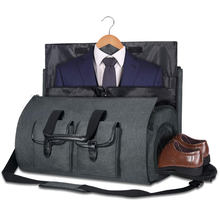 2 in 1 Hanging Garment Duffel Bag Suit Business Travel Bag with Shoe Pouch