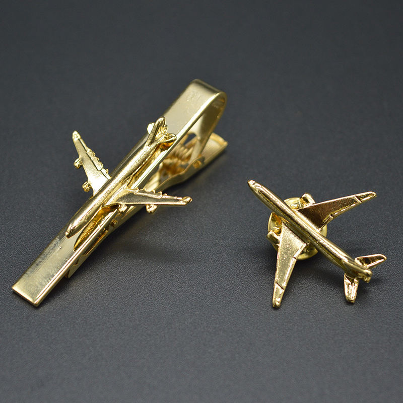 High quality wholesale airplane tie bar cheap aircraft tie clip