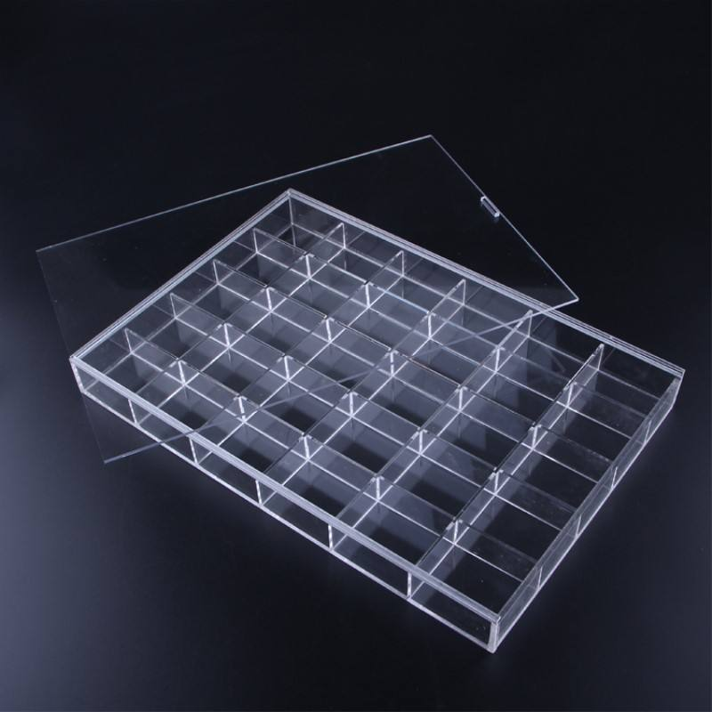 Klar Acryl plexiglas modell auto display box rack schmuck display box