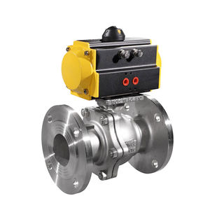 DN150 PN16 ANSI Class 1500 Stainless Steel Flanged Pneumatic Ball Valve