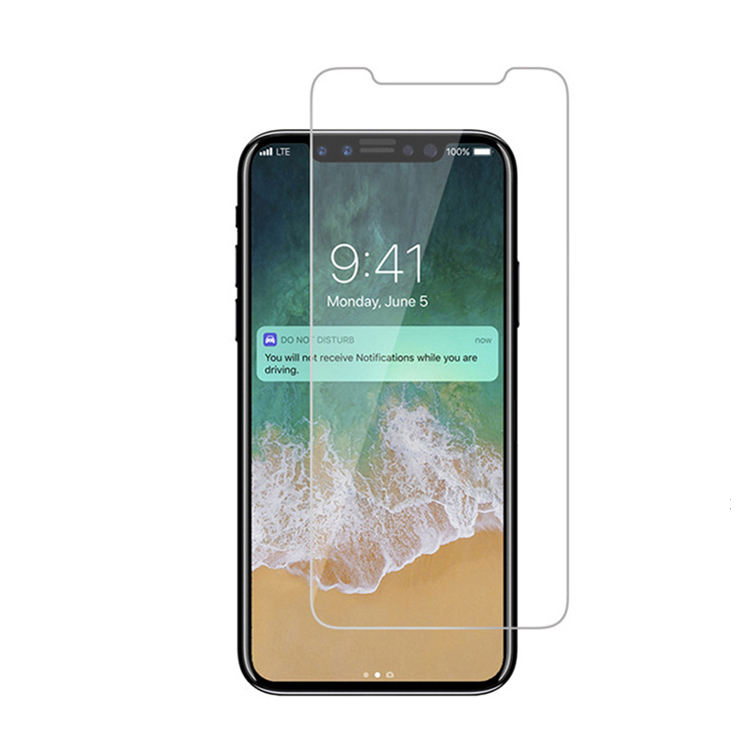 [UOPO] for iPhone XS/10 11 11pro max 2.5 D Transparent Tempered Glass Screen Protector, Anti-Scratch 0.3mm Screen Protector