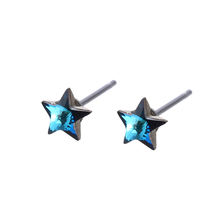 96202 xuping sterling silver color stud earrings, imitation diamond stud earrings, satr silver color stud earrings