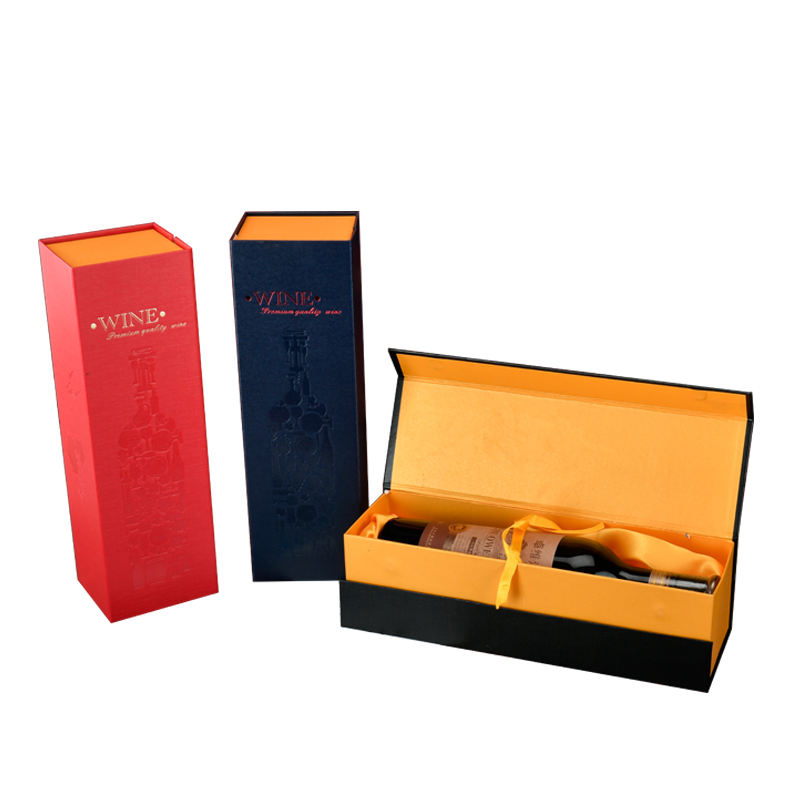 Wholesale High Quality Luxury Wine Paper Packaging Box custom 1 Bottle Gift Wine Cardboard Box