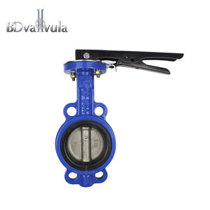 Manual wafer Soft sealing butterfly valve PN16 manufacturer in Hebei province