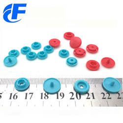 Custom colourful four parts prong plastic snap button clear for baby garments